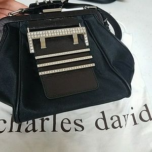 Charles David black handbag purse